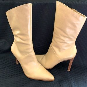 Amanda Smith Mid Calf Tan Boots Size 8